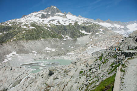 rhone: Rhone glacier, Furkapass, Switzerland Stock Photo
