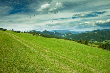 Beautifull view to Slovak landscape, Pieniny national park Stock Photo