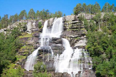 Tvindefossen waterfalls near Voss in Norway
