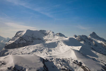 Flying trip around Mont Blanc, Graian Alps, France