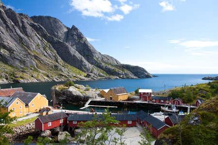 Fishing village in Norway, Nusfjord, Lofoten photo