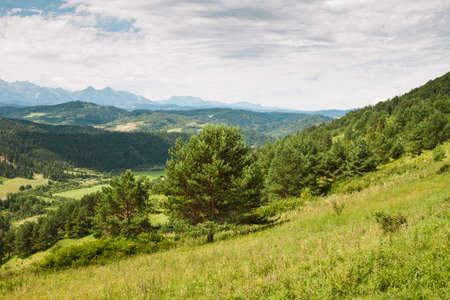 Beautifull view to Slovak landscape, Pieniny, High Tatras, Slovakia Stock Photo