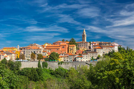 Old village on the top of the mountain in Labin, Istria, Croatia