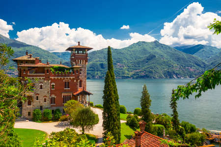 Villa La Gaeta, Lake Como, Italy, Europe. Villa was used for film scane in movie James Bond, SAN SIRO, ITALY 新闻类图片