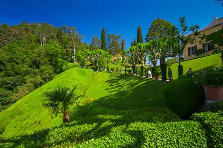 classy house: View to garden in Villa Balbianello, Italy. Editorial