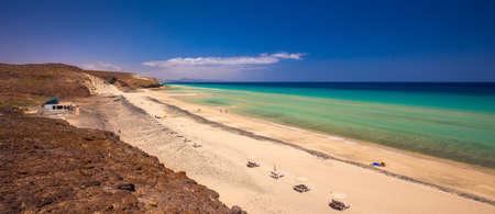 mal: Beautiful Mal Nobre sandy beach, Jandia,  Fuerteventura, Canary Islands, Spain.