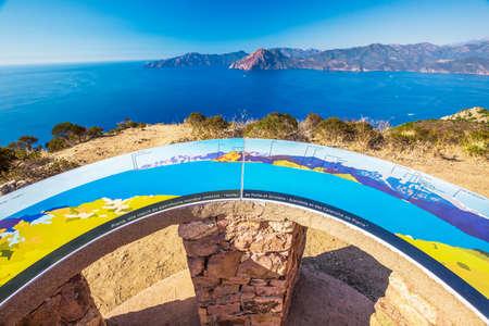 viewport: Viewport near Piana with stunning Corsica coastline and Golfe de Porto and Girolata, Corsica, France, Europe.