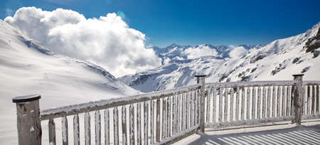 anton: Stunning view to Austrian Alps Stock Photo