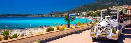 menton: MENTON, FRANCE - July 2017 - Menton city with coastline promenade, Mediterranean Coast, French riviera, France, Europe. Editorial