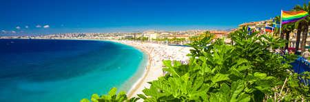 Promenade dans la vieille ville de Nice, Côte d'Azur, France, Europe. Banque d'images - 83984295