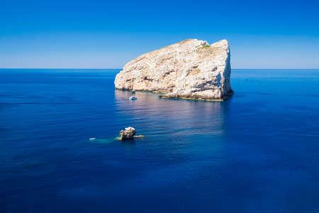 Landscape near the Neptune Grotto cave (Grotta di Nettuno) in Alghero, Sardinia Stock Photo