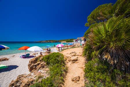 ALGHERO, SARDINIA - July 2017 - Spiaggia delle Bombarde beach near Alghero, Sardinia, Italy.