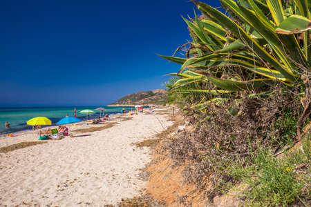 Santa Margherita di Pula beach near Pula town, Sardinia, Italy.