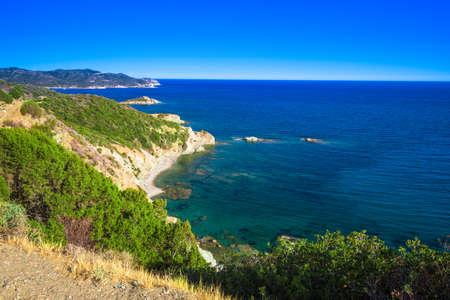 Stunning South coast of Sardinia, Italy.
