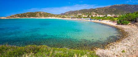 Sa Colonia beach, Chia resort, Sardinia, Italy.
