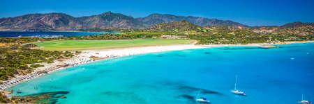Porto Giunco beach, Villasimius, Sardinia, Italy. Sardinia is the second largest island in the Mediterranean Sea