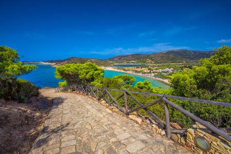 Sa Colonia beach, Sardinia, Italy, Europe. Sardinia is the second largest island in the Mediterranean Sea