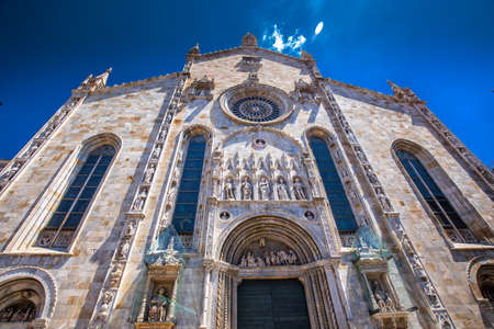Como Cathedral, Como, Italy, Europe. Como Cathedral is the Roman Catholic cathedral of the city of Como, Lombardy, Italy, and the seat of the Bishop of Como