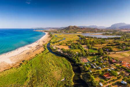 Di Su Tiriarzu beach near Posada village on Sardinia island, Italy, Europe.