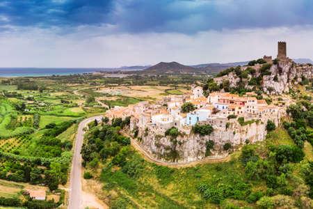 Posada town in the Province of Nuoro in the Italian region Sardinia on Tyrrhenian Sea, Sardinia, Italy, Europe.
