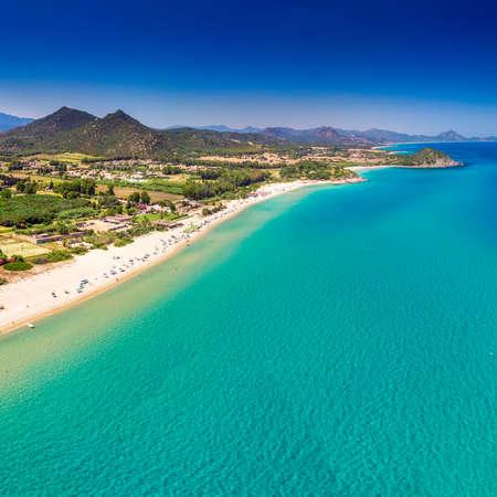Cala Sinzias beach near Costa Rei on Sardinia island, Sardinia, Italy, Europe. 免版税图像
