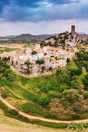 Posada town in the Province of Nuoro in the Italian region Sardinia on Tyrrhenian Sea, Sardinia, Italy, Europe. Stock Photo