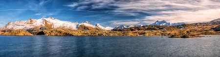 Totensee lake on the Grimsel Pass in Switzerland, canton Valais, Switzerland, Europe.