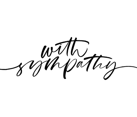 Con frase di simpatia. Calligrafia moderna in stile pennello disegnato a mano. Illustrazione vettoriale di lettere scritte a mano.