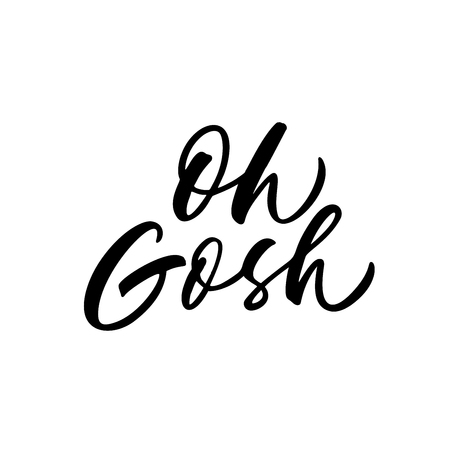 Oh Cosh phrase. Vector lettering background. Ink illustration. Modern brush calligraphy. Isolated on white background. Quote for your cards and banners. 向量圖像