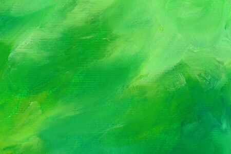 Green watercolor wallpaper. Hand drawn paintbrush swabs raster illustration. Watercolor artwork. Modern expressionist painted texture. Flamboyant brush strokes, bright dyes wallpaper. 스톡 콘텐츠