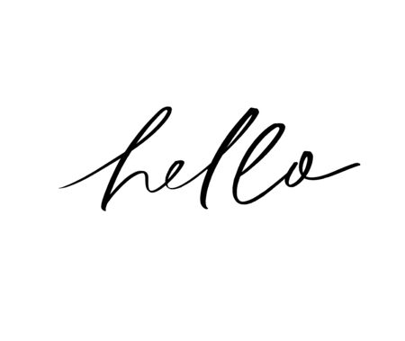Hello ink brush vector lettering. Friendly greeting, modern appeal, hi word variation handwritten calligraphy. Casual talk, conversation start, positive salutations isolated on white background