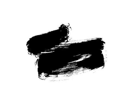Vector black paint, ink brush stroke.