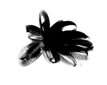 Black paint vector brush stroke. Ink brush shape Illusztráció