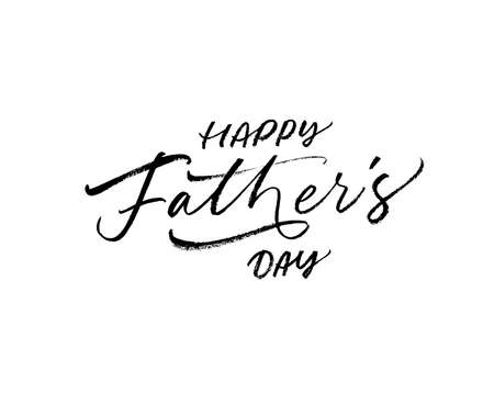 Happy Fathers day calligraphy greeting card.