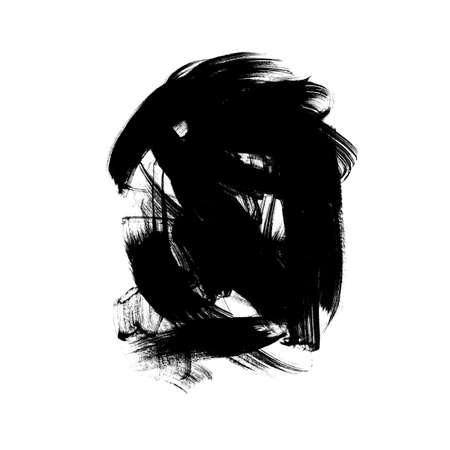 Vector black paint, ink brush stroke or shape.