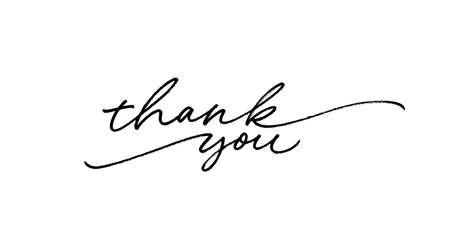 Thank you ink brush vector lettering. Vektoros illusztráció