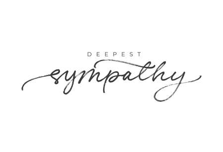 With sympathy hand drawn vector calligraphy. Vector Illustration