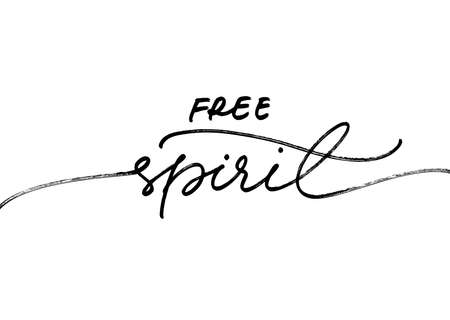 Free spirit ink brush vector lettering.