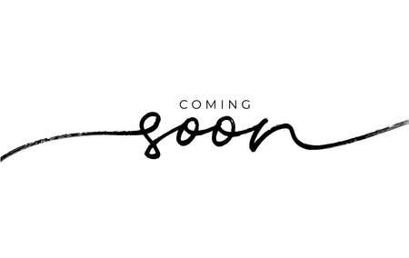 Coming soon ink brush vector lettering. Vettoriali