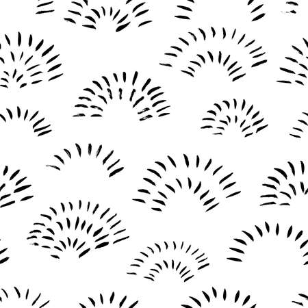 Hand drawn doodle arches vector seamless pattern.