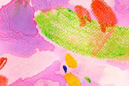 Pink and green abstract watercolor background. Multicolor watercolour gradient.