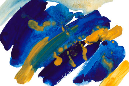 Blue and yellow abstract watercolor background. Stock fotó