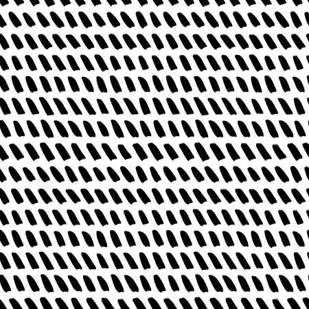 Hand drawn slanted brush strokes seamless pattern