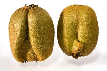 actinidia deliciosa: kiwifruit on white background