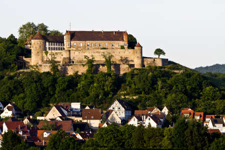 Castle Stettenfels in south west germany. The castle is situated on a small hill over the village Untergruppenbach