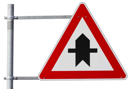 symbolization: german right of way sign Stock Photo