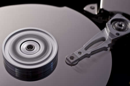 technophobe: hard disk drive in motion with nice blur in background