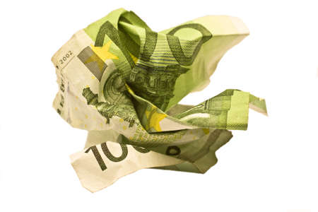 rumple: rumpled euro bill