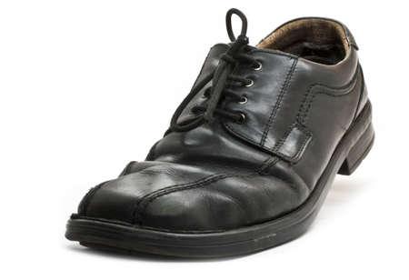 used black business shoeon white background Stock Photo - 10079508