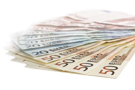current account: euro bills in close up shot